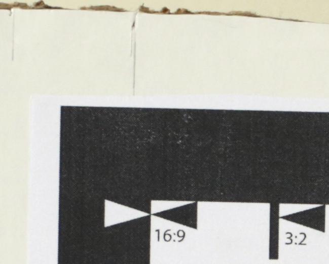 Mamiya - test chart corner